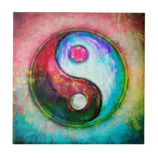 Yin Yang - Colorful Painting IV Ceramic Tile