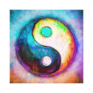 Yin Yang - Colorful Painting V Canvas Print