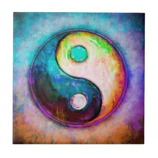 Yin Yang - Colorful Painting V Tile
