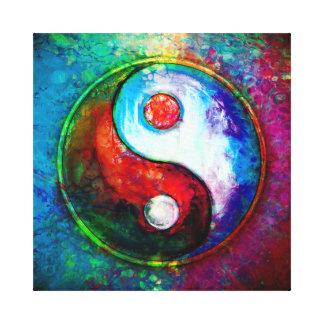 Yin Yang - Colorful Painting VI Canvas Print