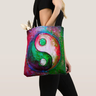 Yin Yang - Colorful Painting VII Tote Bag