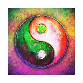 Yin Yang - Colorful Painting VIII Canvas Print