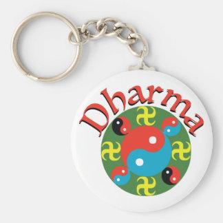 Yin Yang Dharma Key Ring