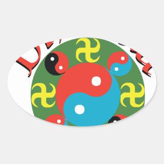 Yin Yang Dharma Oval Sticker