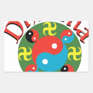 Yin Yang Dharma Rectangular Sticker