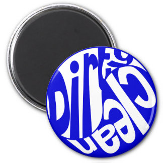 Yin Yang Dirty Clean Dishwasher Magnet Blue/White