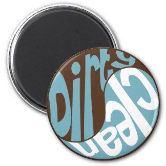 Yin Yang Dirty Clean Dishwasher Magnet Brown/Blue