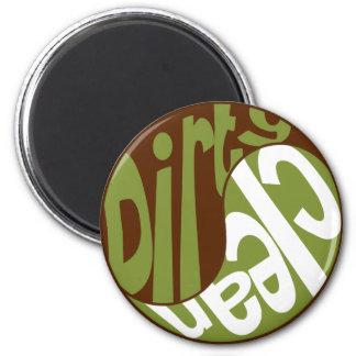 Yin Yang Dirty Clean Dishwasher Magnet Brown/Green