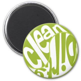 Yin Yang Dirty Clean Dishwasher Magnet Lime Green