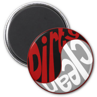 Yin Yang Dirty Clean Dishwasher Magnet Red/Black