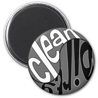 Yin Yang Dirty Clean Dishwasher Magnet White/Black