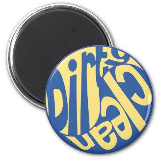 Yin Yang Dirty Clean Dishwasher Magnet Yellow/Blue