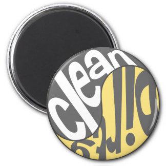 Yin Yang Dirty Clean Dishwasher Magnet Yellow/Gray