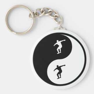 Yin Yang Discus Key Ring
