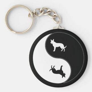 Yin Yang Dog Key Ring