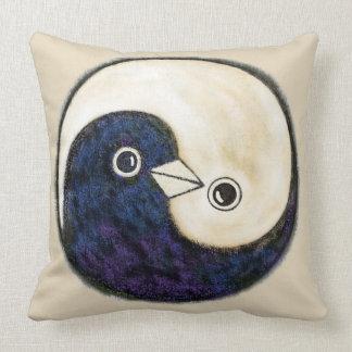 Yin yang doves make a stunning cushion