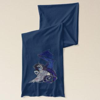 Yin Yang Dragon and Unicorn Scarf