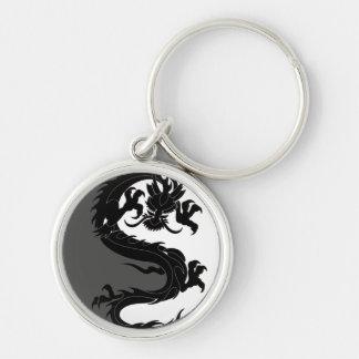 Yin Yang Dragon Key Ring