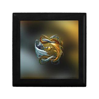 Yin Yang Dragon Small Square Gift Box