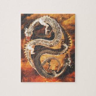 Yin Yang Dragons - Chaos Jigsaw Puzzle