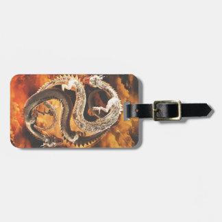 Yin Yang Dragons - Chaos Luggage Tag