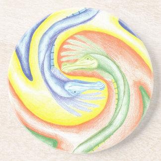 Yin-Yang Dragons Coaster
