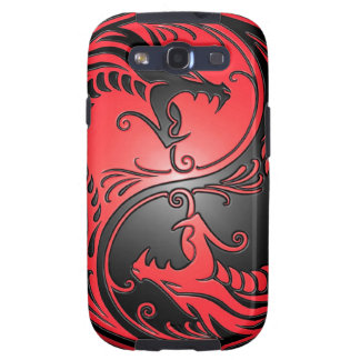 Yin Yang Dragons, red and black Galaxy SIII Covers