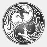 Yin Yang Dragons Stickers