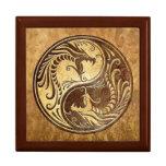 Yin Yang Dragons, stone