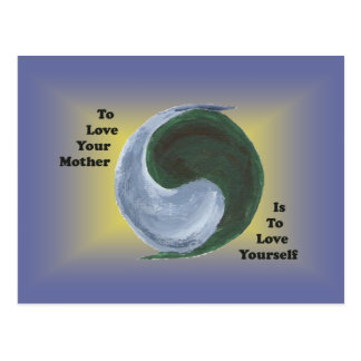 Yin Yang Earth Postcard