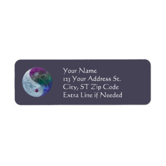Yin Yang Earth Return Address Labels