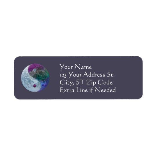 Yin Yang Earth Return Address Labels