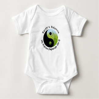 Yin Yang - Earth's Balance My Future Depends On It Baby Bodysuit