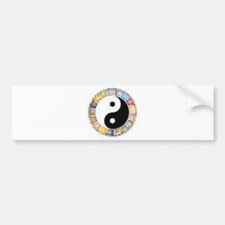 yin yang eastern asian philosophy bumper sticker