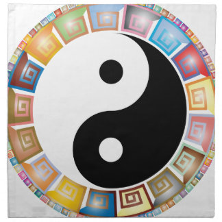 yin yang eastern asian philosophy napkin