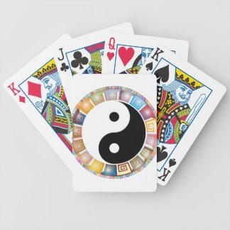 yin yang eastern asian philosophy poker deck