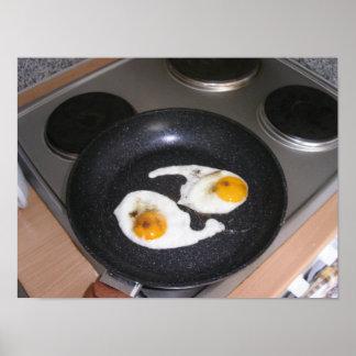 Yin Yang Eggs! Tai Chi of eggs! Poster