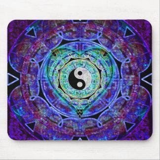 Yin Yang Energy Flow Mouse Pad