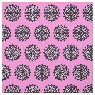 Yin Yang Fabric - Baby Pink, Black