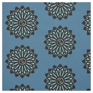 Yin Yang Fabric - Black, Blue