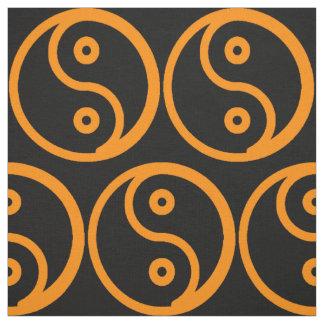 Yin Yang Fabric - Black, Orange