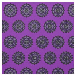 Yin Yang Fabric - Black, Purple
