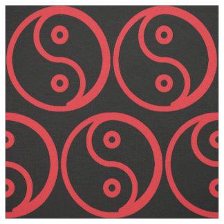 Yin Yang Fabric - Black, Red