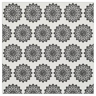 Yin Yang Fabric - Black, White