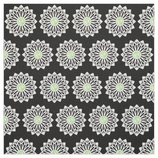 Yin Yang Fabric - Black, White, Green