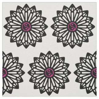 Yin Yang Fabric - Black, White, Pink
