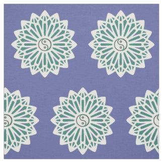 Yin Yang Fabric - Blue, White