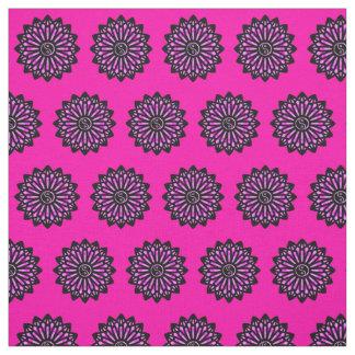 Yin Yang Fabric - Hot Pink, Black