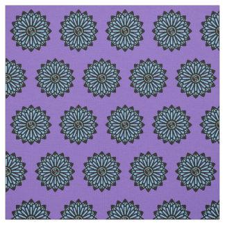 Yin Yang Fabric - Purple, Blue, Black