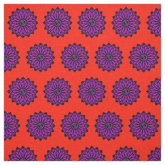 Yin Yang Fabric - Red, Purple